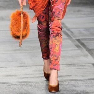 Isaac Mizrahi Satin Floral Couture Runway Pants, 2